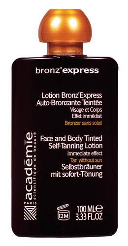test s pour vous lotion autobronzante teint e et gant bronz 39 express grains de beaut. Black Bedroom Furniture Sets. Home Design Ideas